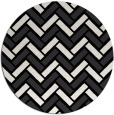 rug #740365 | round black retro rug