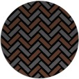 rug #740369 | round black retro rug