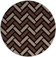 rug #740377 | round brown rug