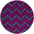 rug #740389 | round blue retro rug