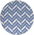rug #740401 | round blue retro rug