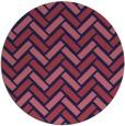 rug #740453 | round pink retro rug