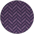 rug #740457 | round purple retro rug
