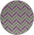 rug #740541 | round purple retro rug