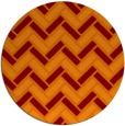 rug #740549 | round red-orange retro rug