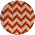 rug #740557 | round orange retro rug
