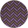 rug #740593 | round purple retro rug