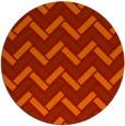 rug #740605 | round red retro rug