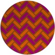 rug #740625 | round red-orange retro rug