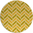 rug #740649 | round yellow retro rug