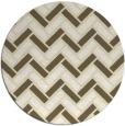 rug #740653   round white retro rug