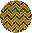 rug #740665 | round light-orange rug