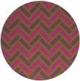 rug #740689 | round pink retro rug