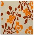 rug #741381 | square orange natural rug
