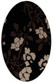 rug #741429 | oval black rug