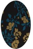 rug #741437 | oval mid-brown rug