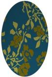 rug #741477 | oval blue-green natural rug