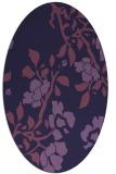 rug #741513   oval purple natural rug