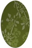 rug #741541   oval green rug