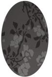 rug #741565   oval mid-brown natural rug