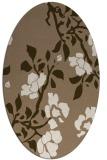 rug #741569   oval mid-brown natural rug