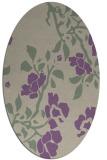 rug #741597   oval purple natural rug