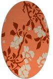 rug #741613 | oval orange rug