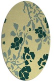rug #741621 | oval yellow rug