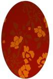 rug #741661 | oval red natural rug