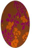 rug #741681 | oval red-orange rug