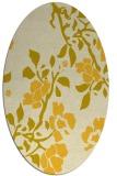 rug #741705 | oval yellow natural rug