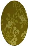 rug #741737   oval light-green rug