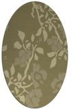 rug #741741 | oval light-green rug