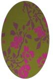 rug #741745 | oval light-green rug