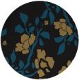 rug #742141 | round black natural rug