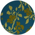 rug #742181 | round blue-green natural rug