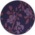 rug #742217   round purple natural rug