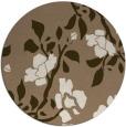rug #742273 | round mid-brown natural rug