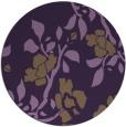 rug #742353 | round purple natural rug