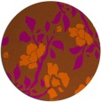 rug #742385 | round red-orange rug