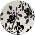 rug #742393 | round white natural rug