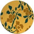 rug #742425 | round light-orange natural rug