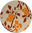 rug #742437 | round beige natural rug