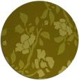 rug #742441 | round light-green natural rug