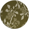 rug #742453 | round light-green natural rug