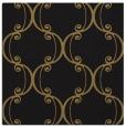 rug #742845 | square black damask rug