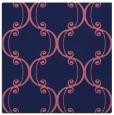 rug #742917 | square blue-violet damask rug