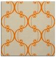 rug #743141 | square orange damask rug