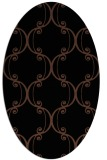 rug #743193 | oval brown rug