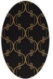 rug #743197 | oval black traditional rug